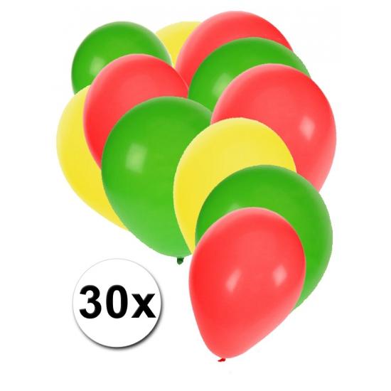 30 stuks ballonnen kleuren Bolivia