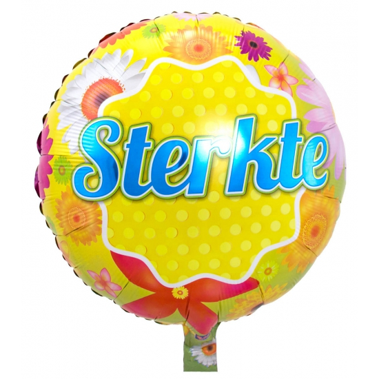 Bloemen folie ballon Sterkte wensen