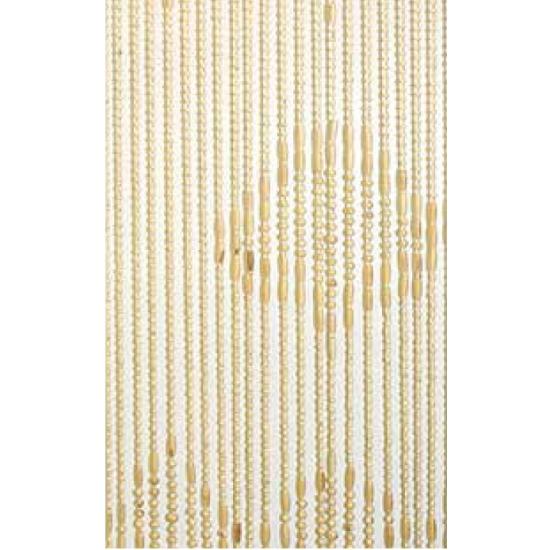 Insecten deurgordijn houten kralen 220 cm