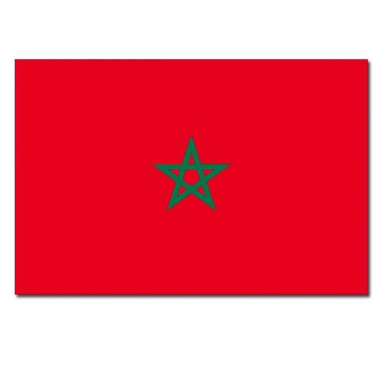 Landen vlag Marokko