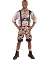 Camouflage lederhose voor heren