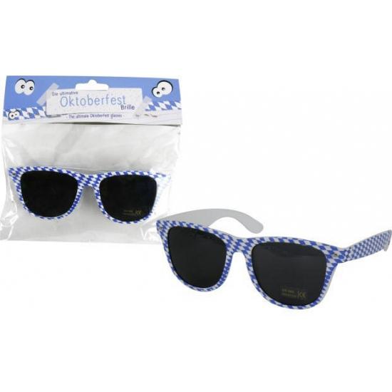 Bierfest zonnebrillen blauw