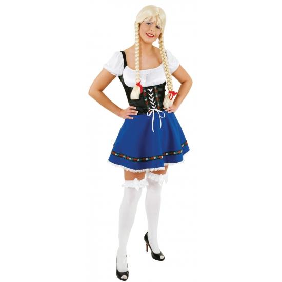 Blauw Tiroler jurkje voor dames