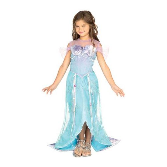 Blauwe zeemeermin jurk voor meisjes