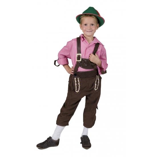 Bruine tiroler broek voor kinderen