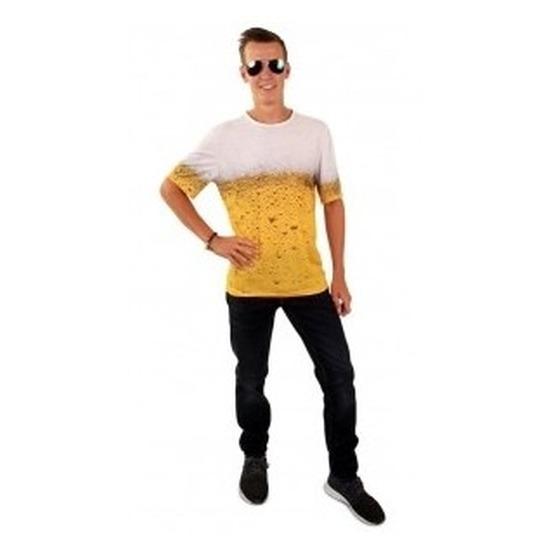 Feestkleding bier t-shirt voor volwassenen
