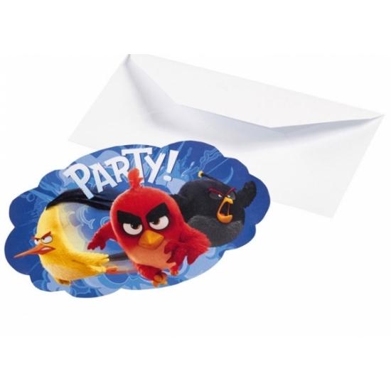 Kinderfeestje Angry Birds uitnodigingen 8 stuks