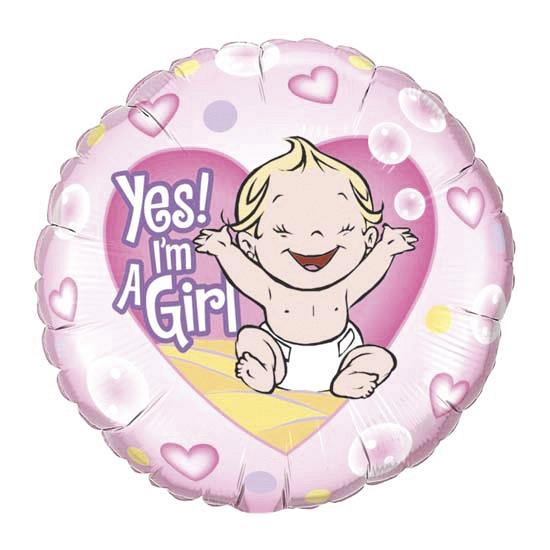 Kraamcadeau folie ballon meisje 45 cm