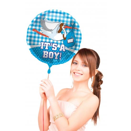 Kraamcadeau jongens folie ballon 45 cm