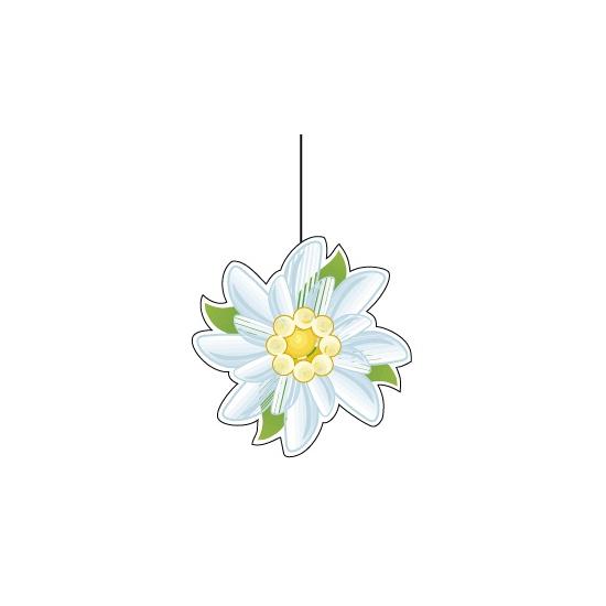 Papieren edelweiss decoratie 14 cm