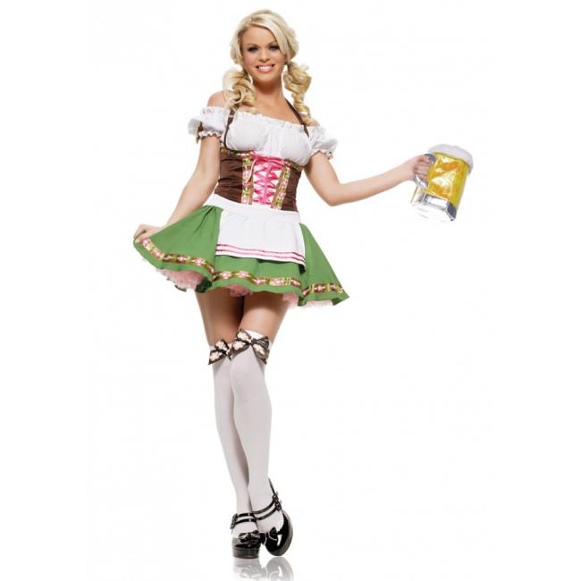 Sexy bierfeest jurk met kousen