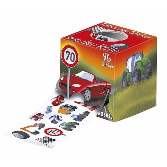 Voertuigen stickers 96 stuks