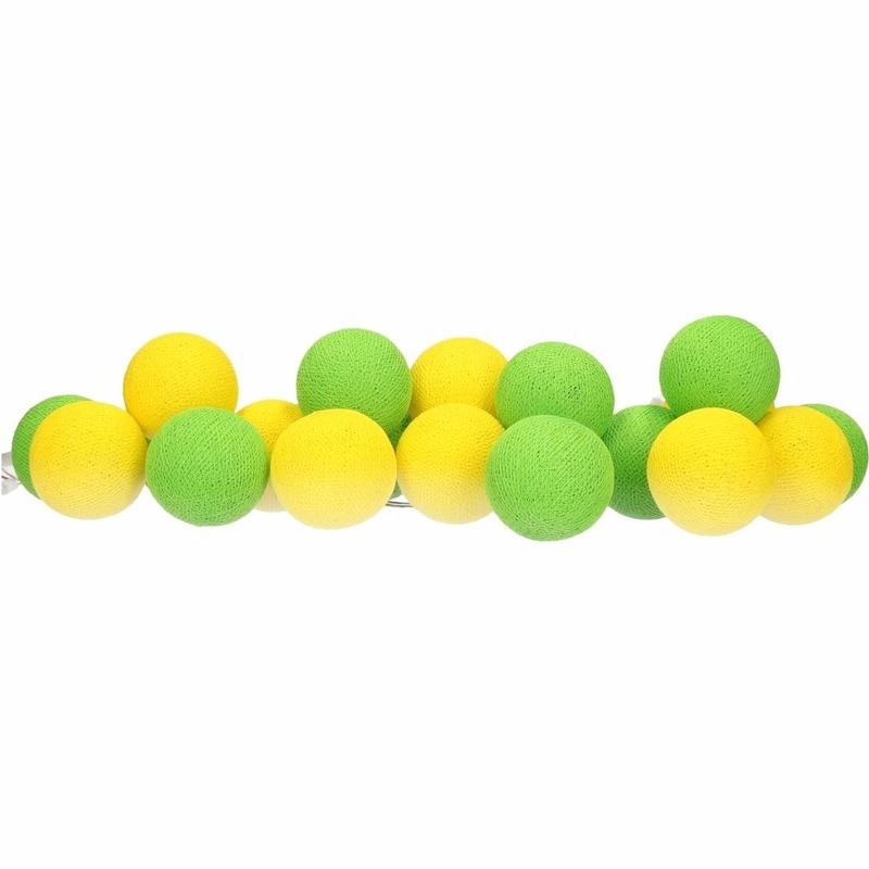 Woondecoratie lichtsnoer geel-groen