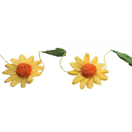 Zonnebloemen feestslingers geel-oranje